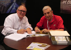 Dr. Austin Frishman and Paul Bello teamed to co-author The Cockroach Combat Manual II. The writers signed numerous copies for readers at the PMP PestWorld 2013 booth, where the book was not only well received — it sold out.