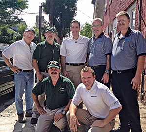Top, left to right: Kevin Connally,  Richard Lobiondo, Ray Daniels, Jim Nase and F. Andrew Wedman. Bottom, left to right: Joe Silvestrini and Eric Lentz.