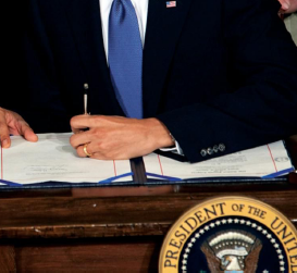 President Barack Obama signs the health insurance reform bill in the East Room of the White House, on March 23, 2010. (Official White House Photo by Chuck Kennedy)