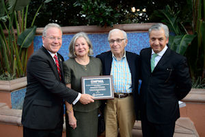 From left are NPMA President Billy Tesh, Marilyn Cooper, Norm Cooper and Benjamin Gomez, Univar Director Latin America. Photo courtesy of Norm Cooper