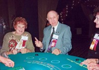 Frances and Noad Corley enjoy a Monte Carlo-themed reception during a 1995 industry conference.