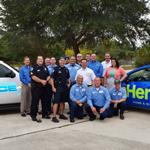 Heron and Police