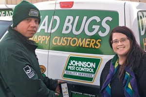 Adam Gibson, Lori Johnson prep for a JPC ride along. photo: Ray Johnson