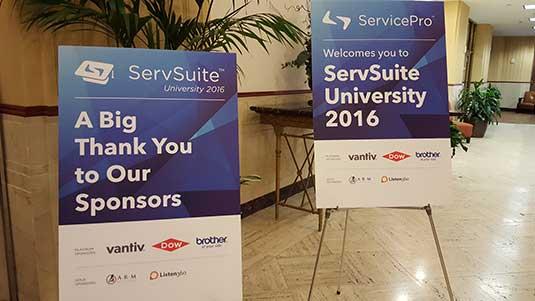 Welcoem to ServSuite University 2016!