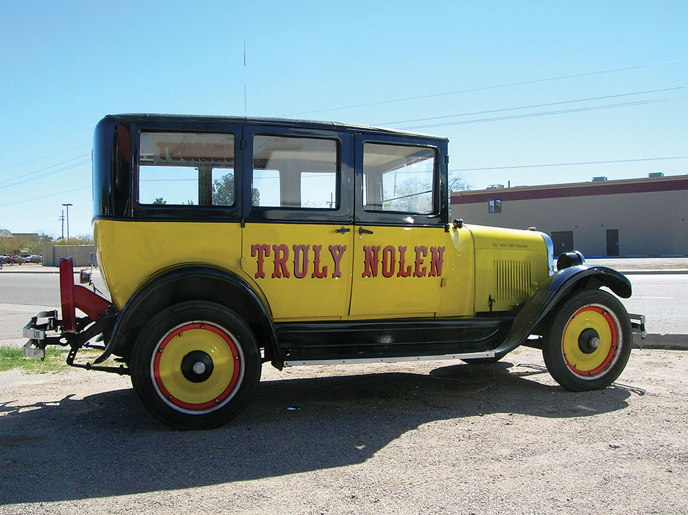Nolen now resides in Florida, but still keeps a hand in the buying, restoring, customizing and selling of the classic vehicles, such as this 1924 Maxwell.