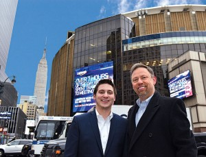 Dan and Stuart Aust take pride in the fact that no bird deterrents are readily visible on their Madison Square Garden account. Photo: Fred Miller, fmfotofm@aol.com
