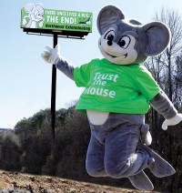 Billboards featuring The Mouse have become the No. 1 branding tool for Northwest Exterminating. The Marietta, Ga.-based firm plans to hold a community-wide naming contest for its mascot in the near future.Photo: Northwest Exterminating