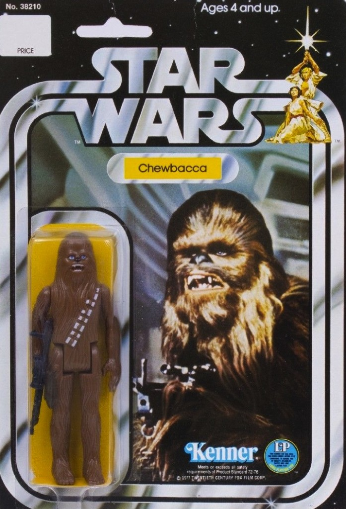 Rather than tempting fate - and Lucasfilm's legal dept. - with a movie still, here's a pic of one of my first toys, as pictured on Ebay. (Only $2,000!)