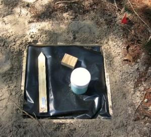 Figure 3. A freshly treated concrete slab plot, prior to concrete pouring. Photo: USFS