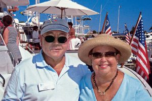 Boating is one of Dick and Polly Sameth's favorite pastimes. Photo: Dick Sameth