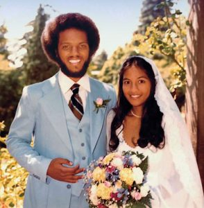 Drs. Vernard Lewis and Lisa Kala on their wedding day in July 1979. Photo: Dr. Vernard Lewis