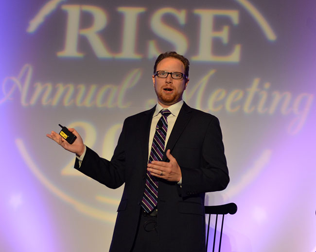 8. David Wasserman, editor of The Cook Political Report, warned RISE members to curb their governmental expectations the next four years due to the country's polarized political parties and questionable presidential candidates.