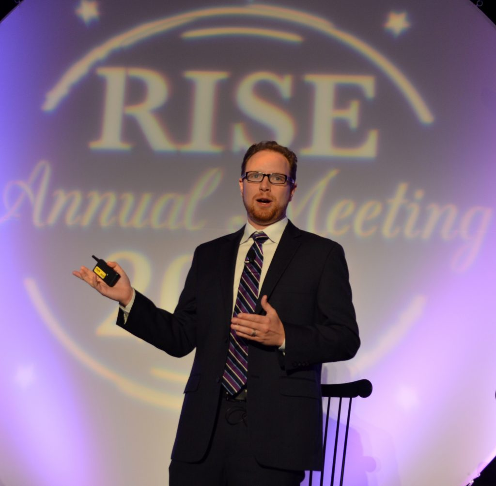 David Wasserman, editor of The Cook Political Report, warned RISE members to curb their governmental expectations the next four years due to the country's polarized political parties.