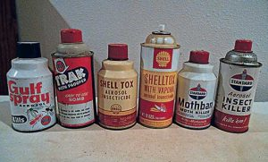 Gulf, Shell and Standard (Oil) might be more recognizable to us today as automotive gas and service station brands, but they were once in the insecticide industry, too. Photo: Phil Allegretti