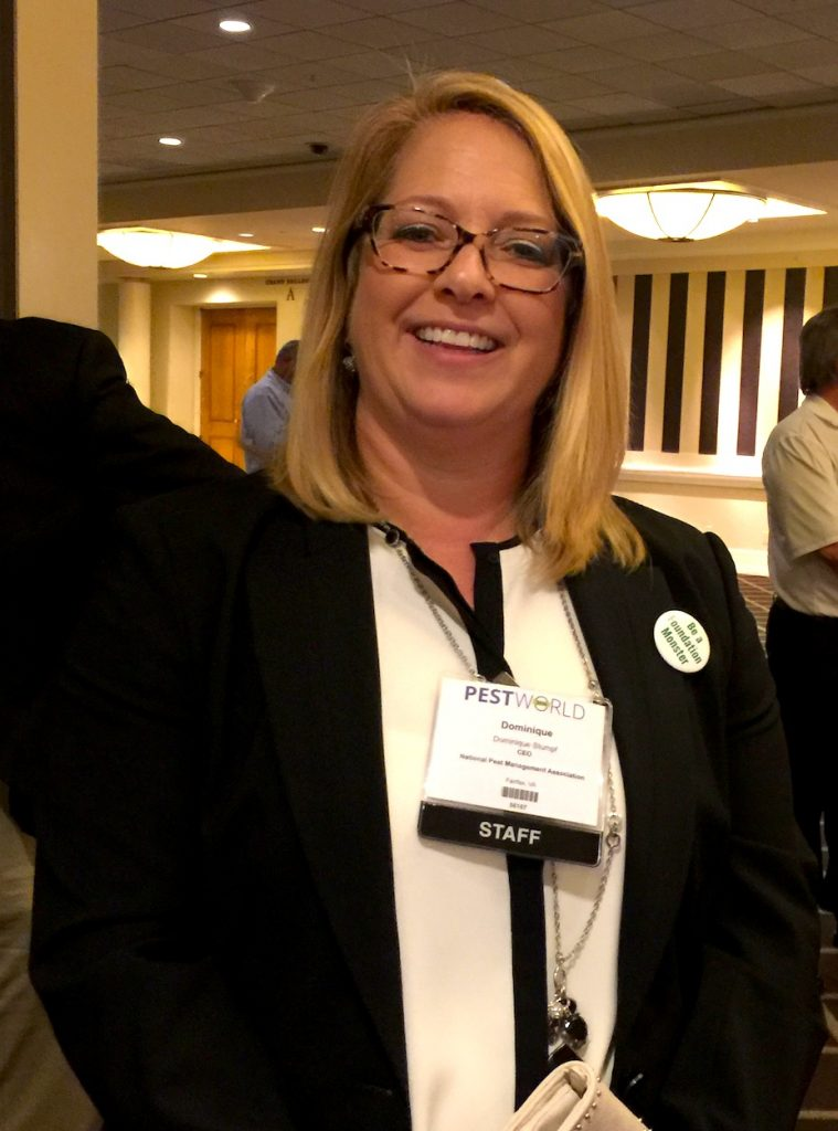 NPMA Executive Director Dominique Stumpf, CAE, CMP, stopped in during the UPFDA meeting.