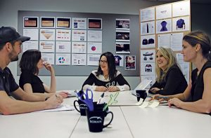 Brister meets with the Bohan Advertising team.  Photo: U.S. Pest Protection