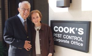 Jo and John Cook's long and happy marriage was also a successful business partnership. Photo: Cook's Pest Control