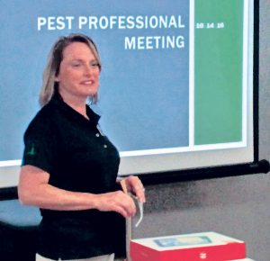 Glynnis Anderson trains the Home Pest Control staff and was instrumental in making the switch to a paperless office. Photo: Glynnis Anderson