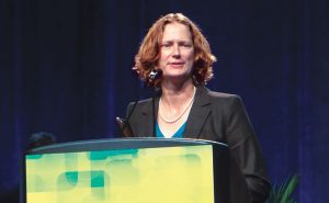 Black, immediate past president of Pi Chi Omega, often accepts industry speaking engagements. Photo: Judy Black