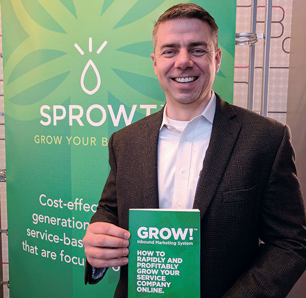 Donnie Shelton with his just-released book, Grow! Inbound Marketing System.