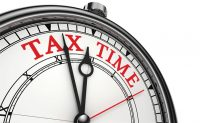 Clock showing tax time. Illustration: ©iStock.com/donskarpo