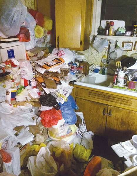 The kitchen at this elderly woman's home was unusable. Photo: James Molluso