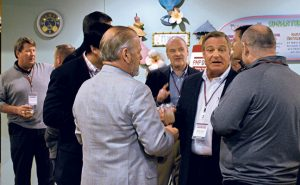 Suppliers and PMPs mingled during the opening reception. Photos: Joelle Harms