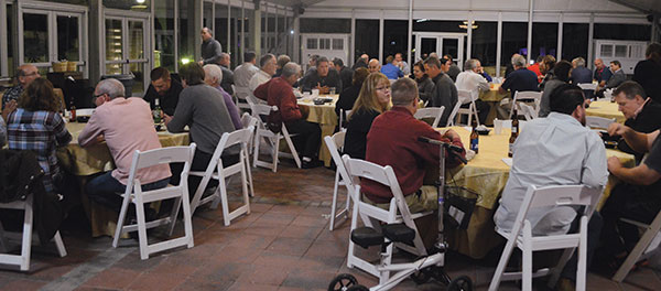 PMPs enjoy the closing night barbecue dinner. Photo: Joelle Harms