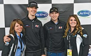 Michele Peacock, Austin Cindric, Chase Briscoe, Kimberly Brown. Photo: Active Pest Control