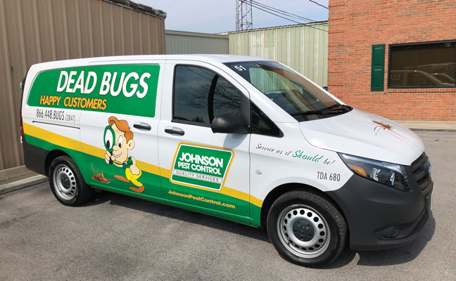 Johnson Pest Control truck