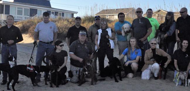 Dog training group photo