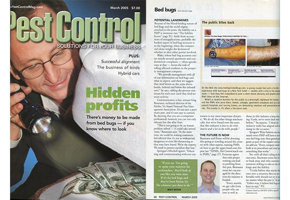Pest Control Cover 2005