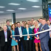 The Univar team celebrates with a ribbon-cutting ceremony. PHOTO: Univar