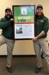 Talis and Levi Brody display the award. PHOTO: BRODY BROTHERS PEST CONTROL
