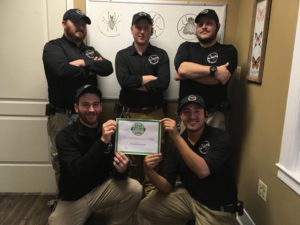 The On The Fly team displays its 2018 Angie's List Super Service Award. PHOTO: ON THE FLY PEST SOLUTIONS