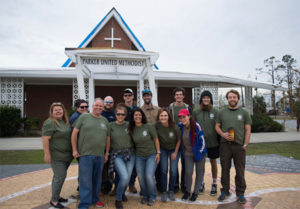 The P.E.S.T Relief team outside the Taunton Family Children's Home in Wewahitchka, Fla. PHOTO: P.E.S.T RELIEF INTERNATIONAL