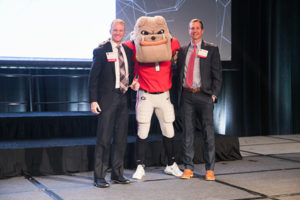 Brian Lunsford (left) and Brandon Lunsford on stage at the 2019 Bulldog 100 Celebration. PHOTO: INSPECT-ALL SERVICES