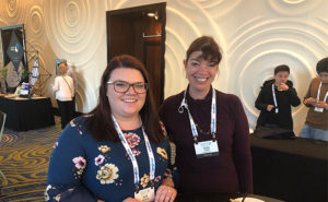 Kylli Paavola (left) and Katie Swift both with Liphatech attending the Welcome Reception at the 2019 CropLife America and RISE Regulatory Conference. PHOTO: RISE