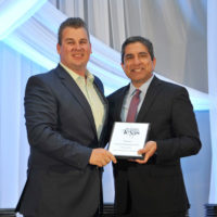 Keith Heath, branch manager of Versacor's Austin branch, accepts the award for 2019 Best Company to Work for in Texas. PHOTO: VERSACOR