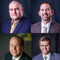 Pete Mueller (top left), Jeffery Waggoner (top right), Patrick Kelley (bottom left), Tom Mueller (bottom right)