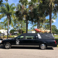 The Coroner's Caddy making a stop in Fort Myers, Fla. (PHOTO: BADER RUTTER)