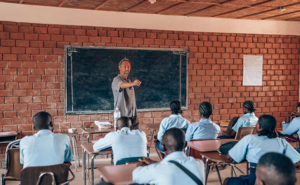 Stuart Aust teaching high school students at COTN's Banta Ministry Center. PHOTO: THE AUST GROUP
