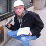 Dr. Bobby Corrigan inspects a grate in New York City, in a photo used in his 2008 PMP Hall of Fame induction. PHOTO: BOBBY CORRIGAN