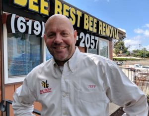 Jeff Lutz, owner of Bee Best Bee Removal