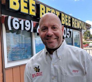 Jeff Lutz, owner of Bee Best Bee Removal