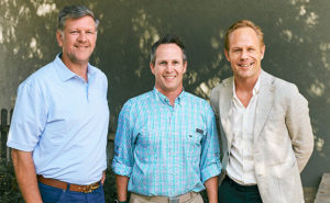 From left are Steven Splawn, CEO of Waynes; Eric Frye, president of Waynes; and Mikael Vinje, regional president of Anticimex North America. PHOTO: ANTICIMEX