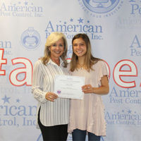 From left are Laurie Higginbotham, CEO of American Pest Control, and Lexye Hill. PHOTO: AMERICAN PEST CONTROL