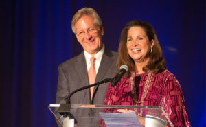 Bobby and Jan Jenkins giving acceptance remarks. PHOTO: SANDY CARSON