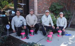 From left are California Pest Management's Alex Ramirez, Josh Alvarez, Jorge Sanchez and Derek Harmon-Wong. PHOTO: CALIFORNIA PEST MANAGEMENT