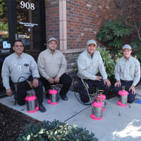 From left are California Pest Management's Alex Ramirez, Josh Alvarez, Jorge Sanchez and Derek Harmon-Wong. PHOTO: CALIFORNIA PEST MANAGEMENT